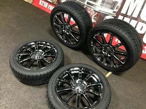 JDM MUGEN NR 17X7.0JJ OFFSET +53 5X114.3 MAGS WITH TIRES wheels