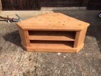 Floor-Sitting Pine Corner Cupboard, Useful TV Stand