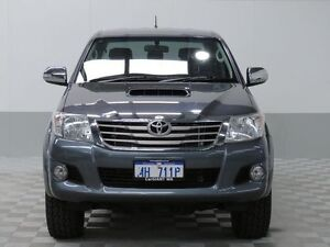 2013 Toyota Hilux KUN26R MY14 SR5 (4x4) Graphite Grey 5 Speed Automatic Dual Cab Pick-up East Rockingham Rockingham Area Preview