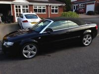 Audi A4 Cabriolet 2.0L TDI S Line 2dr GOOD CONDITION Full service history, Black leather seats