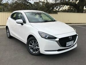 2020 Mazda 2 DJ2HAA G15 SKYACTIV-Drive Pure White 6 Speed Sports Automatic Hatchback Bridgewater Adelaide Hills Preview