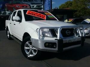 2012 Nissan Navara D40 ST (4x4) White 6 Speed Manual Dual Cab Pick-up Greenacre Bankstown Area Preview