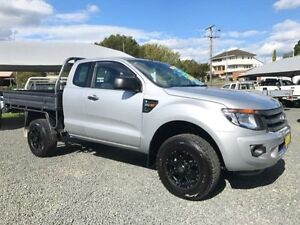 2013 Ford Ranger PX XL 3.2 (4x4) Silver 6 Speed Manual Super Cab Chassis Gloucester Gloucester Area Preview