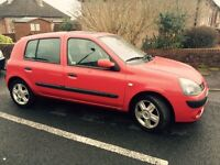 Renault Clio 1.2 16v, 5DR, 48k, 1 years MOT, 2 owners only, private sale