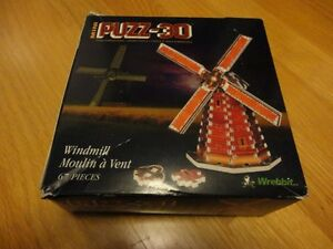 Windmill 3D foam puzzle complete with box