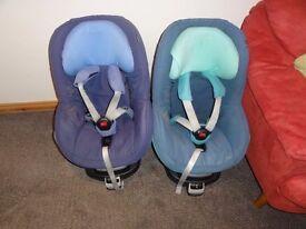 Maxi Cosi Pearl car seat and Isofix/familyfix base x 2
