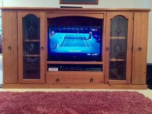 "Solid Timber TV Unit ""Lead light"" Albany Creek Brisbane North East Preview"
