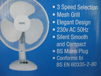 Desktop fan 12 inch Oscillatin 3 speed desktop fan new packed