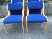 Royal Blue Wooden Stacking Chair