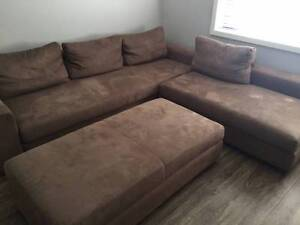 King Furniture Phoenix Corner Lounge & Ottoman - Can Deliver Ryde Ryde Area Preview