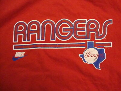 MLB Texas Rangers Baseball Nike Apparel Sportswear Throwback Fan T Shirt Size L