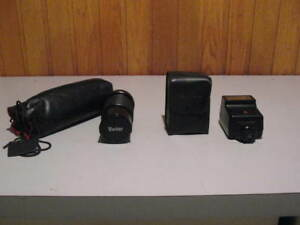 Vivitar Zoom Lens and Pentax Flash