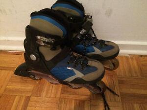 Patins à roues alligné/ Rollerblades 30$