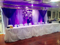 Chair Covers, Linens, and Decor for Rent