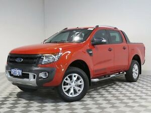 2013 Ford Ranger PX Wildtrak 3.2 (4x4) Orange 6 Speed Automatic Crewcab Jandakot Cockburn Area Preview