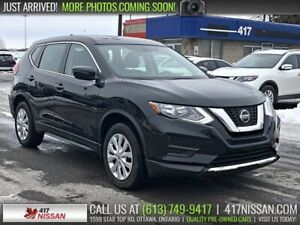 2018 Nissan Rogue S AWD | Rear Camera, Htd Seats, Bluetooth