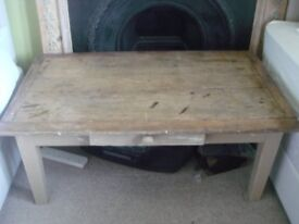 Coffee Table, French antique distressed