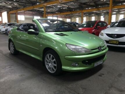 2004 Peugeot 206 CC Green 5 Speed Manual Cabriolet
