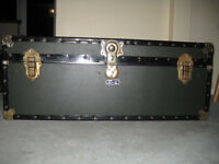 Faux Leather Plywood Trunk