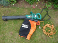 'Spares or repair' Black + Decker Electric Garden LEAF VACUUM / Blower GW370
