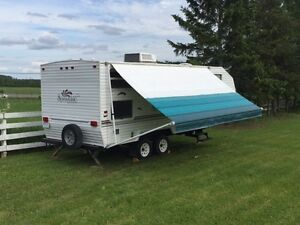 Camper with Bunk Beds Trade for Sleds