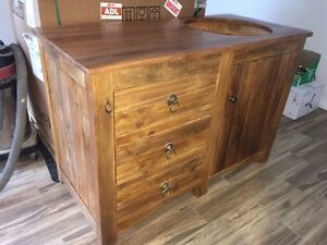Custom Wood Bathroom Vanity - Water Sealed Parafield Gardens Salisbury Area Preview
