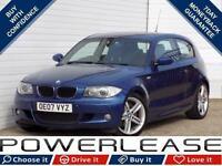 2007 07 BMW 1 SERIES 2.0 120D M SPORT 3D 175 BHP DIESEL