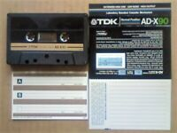 VERY RARE V2 TDK AD-X 90 1982-1984 PREMIUM DUAL-LAYER CASSETTE TAPES WITH CCLs FREE P&P +A GUARANTEE