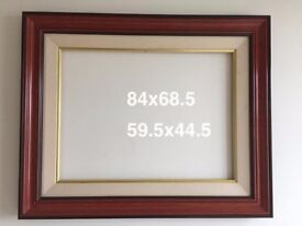 Solid wood frames for pictures, mirrors and blackboards. Multiple sizes available.