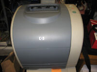 Laser printer colour A4 HP 2500n works but needs some attention
