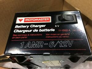 1A 6/12V battery charger