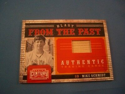 2010 Panini Century Blast From The Past Bats Mike Schmidt 3 161/250 2010 Baseball Bats