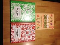 Set of 3 recipe books (soups and healthy eating)