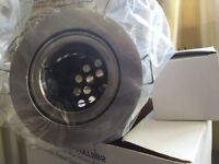 NEW - Boxed Low Voltage IP65 Rated Flush Adjustable Downlight 12V MR16 50W - Polish Chrome