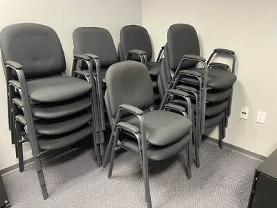 Stacking Armless Lobby Guest Chair Black