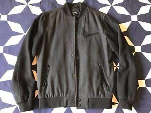 Roger David Bomber Jacket - Grey/ Black - Size M Klemzig Port Adelaide Area Preview