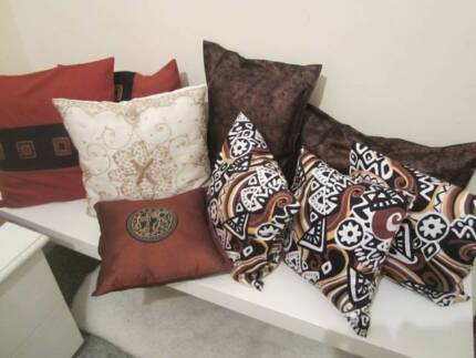 Cushion Set- Copper/ Pattern Design- EX DISPLAY HOME Riverton Canning Area Preview