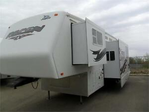 2007 40 FT JAYCO RECON ZX 36 V TOY HAULER 5TH WHEEL