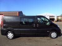 NO VAT!!vauxhall vivaro 2.0l lwb sportive factory 6 seat crew van with full history and june 18 mot