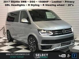 2017 VW Volkswagen Transporter Shuttle SWB DSG ~ Silver ~ 150bhp ~ 9 Seats
