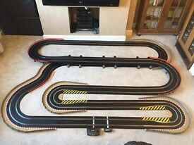 Scalextric Sport Large Layout with Lap Counter / Double Hairpin / Long Bridge & 2 Cars