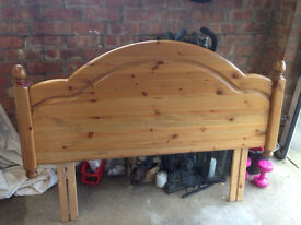 Head Board - Pine - Double Bed