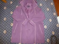 WISHWOOD LADIES LONG JACKET WITH DETACHABLE HOOD, SIZE 14 - PURPLE - NEW