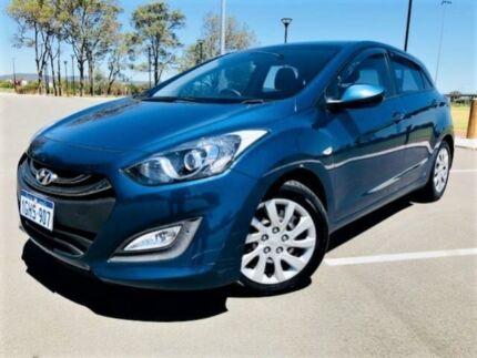 2014 Hyundai i30 GD MY14 Active Blue 6 Speed Automatic Hatchback