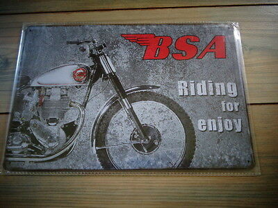 BSA TIN SIGN