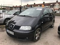 2005 SEAT ALHAMBRA, 1.9 AUTOMATIC DIESEL, 7 SEATER, BLACK, WELL LOOKED AFTER FAMILY CAR,