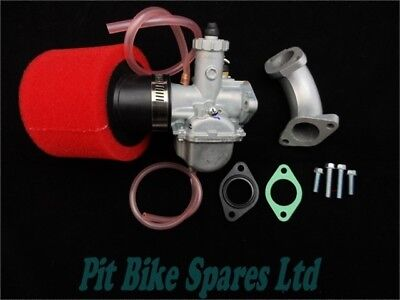 VM22 Mikuni Carb, 26mm Inlet Manifold, Foam Air Filter, Gaskets. Pit Bike. TP2
