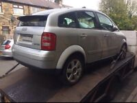 AUDI A2 1.4 TDI 1999 2000 2001 2002 2003 2004 2005 BREAKING FOR SPARES
