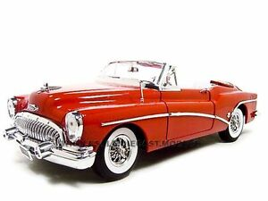 1953-BUICK-SKYLARK-RED-1-18-DIECAST-MODEL-CAR-BY-MOTORMAX-73129