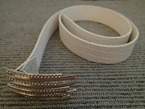 NEW White and Silver Bling Belt